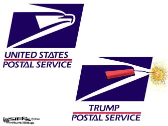 PoliticalCartoon U.S. Trump USPS 2020 election