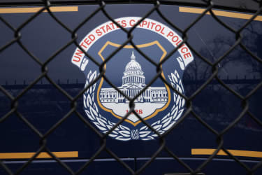 Capitol Police logo.