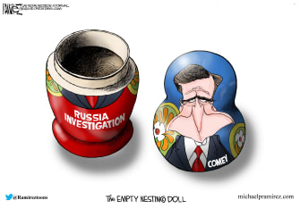 Editorial Cartoon U.S. James Comey Russia