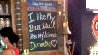 Dallas-area bar fires manager over terrible domestic-violence joke