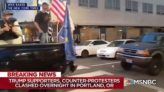 Protest in downtown Portland