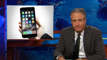 Jon Stewart pretty convincingly compares the ISIS airstrikes in Syria to the iPhone 6