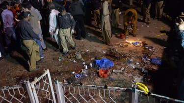 Site of Pakistan explosion