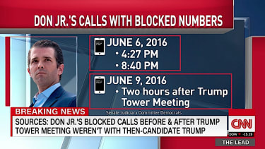 Don Trump Jr. did not call his father before and after Trump Tower meeting