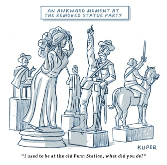 Editorial Cartoon U.S. removed statues George Floyd protests