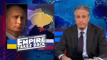 Jon Stewart calls B.S. on Vladimir Putin's Ukraine protestations