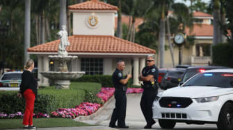 Police at Trump National Doral Miami resort.