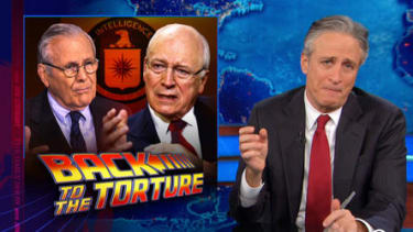 Watch The Daily Show catch up with Bush, Cheney, and Rumsfeld, post-CIA torture report