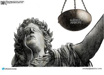 Editorial Cartoon U.S. Ahmaud Arbery justice