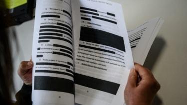 Mueller report redacted.