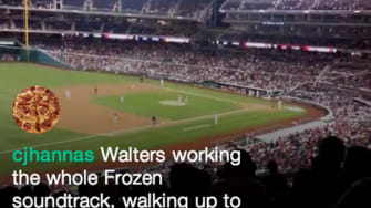 MLB player chooses songs from Frozen as his walk-out music