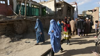 Earthquake in Kabul, Afghanistan, Monday, Oct. 26, 2015