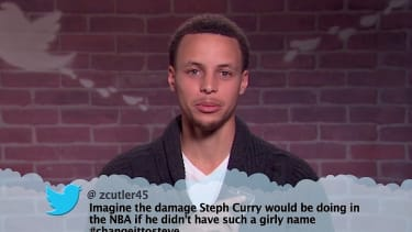"""Jimmy Kimmel Live hosts a special NBA edition of """"mean tweets"""""""