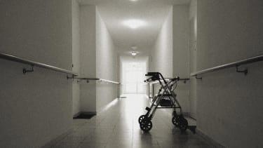 A nursing home corridor.