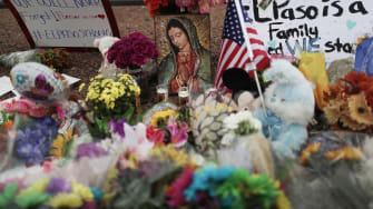 Memorial outside the site of the El Paso shooting.