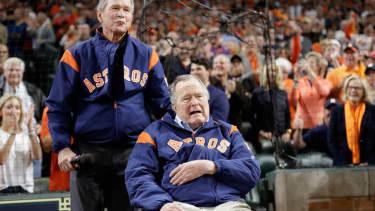 Former Presidents George W. Bush and George H.W. Bush