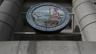 The California state seal.