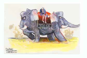 Political Cartoon U.S. congress GOP coronavirus relief