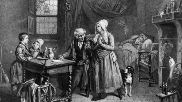 Medical help in the 19th century.