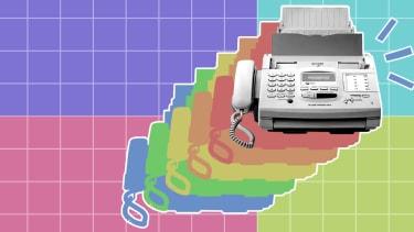 A fax machine.