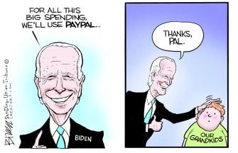 Editorial Cartoon U.S. biden spending