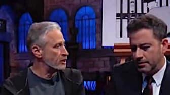 Jon Stewart gives Jimmy Kimmel a pep talk