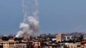 Rockets launched toward Israel.