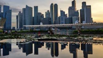 Singapore skyline.
