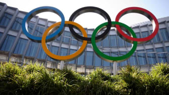 The Olympic rings.
