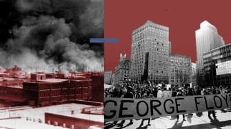 Tulsa and a George Floyd protest.