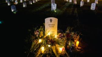 A George Floyd memorial