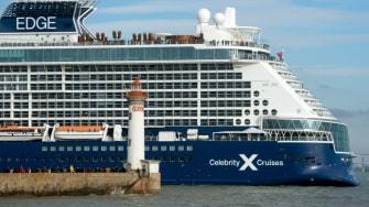 The Celebrity Edge ship.