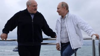 Alexander Lukashenko, Vladimir Putin.