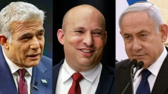 Yair Lapid, Naftali Bennett, Benjamin Netanyahu