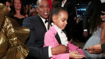 Jay-Z and Blue Ivy Carter.