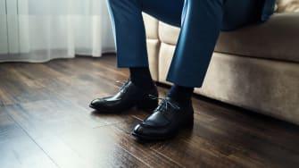 A pair of men's dress shoes.