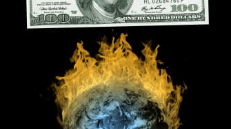 The earth on fire.