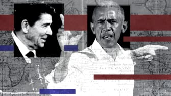 Ronald Reagan and Barack Obama.