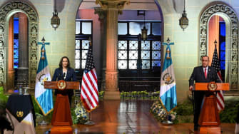 Vice President Kamala Harris and Guatemalan President Alejandro Giammattei.