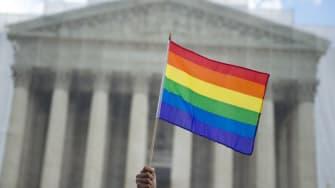 LGBTQ flag.