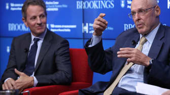 Tim Geithner, Henry Paulson