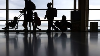 Travelers at airport.
