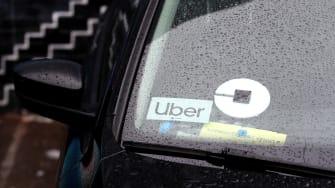 An Uber.