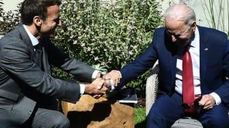 Emmanuel Macron, Joe Biden.