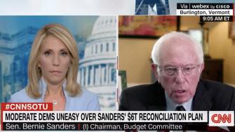 Dana Bash, Bernie Sanders.