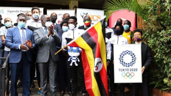 Members of the Ugandan Olympic team.