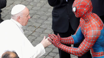 The Pope and Spider-Man.