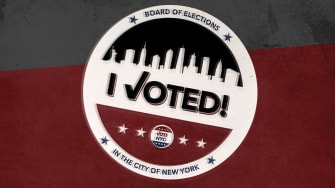 A voting sticker.