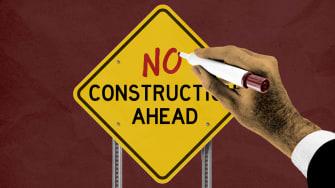 A construction sign.
