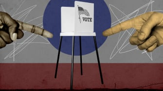 A voting booth.